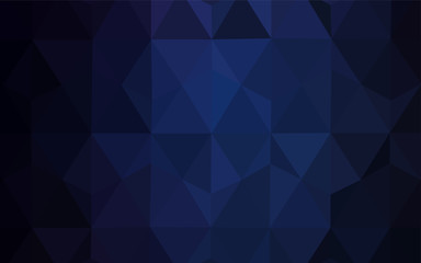 Dark BLUE vector low poly cover.