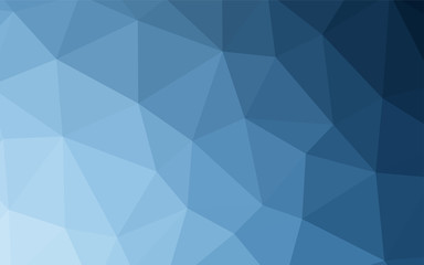 Light BLUE vector triangle mosaic texture.