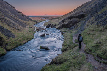 Traveling through Iceland
