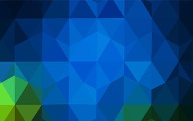 Dark Blue, Green vector abstract mosaic background.