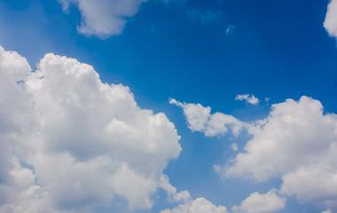 sky blue white background