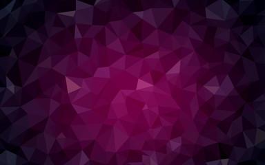 Dark Pink vector low poly texture.