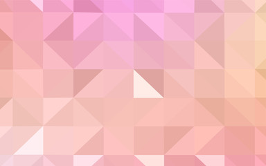 Light Pink, Yellow vector abstract polygonal pattern.