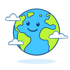 Cute cartoon Earth