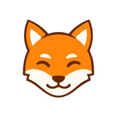 Cartoon fox face logo