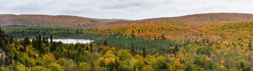Fall Foliage Panorama Landscape Oberg Mountain Minnesota