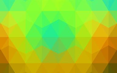 Dark Multicolor vector abstract polygonal background.