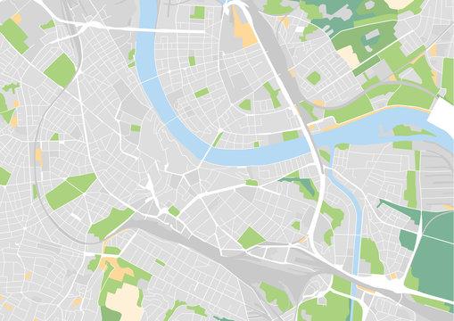 Vektor Stadtplan von Basel
