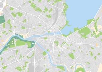 Vektor Stadtplan von Genf