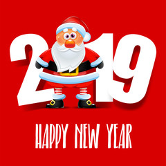 Santa Claus. Happy New Year 2019
