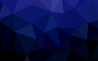 Dark BLUE vector abstract polygonal background.