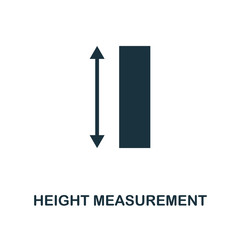 Height Measurement icon. Monochrome style design from measurement icon collection. UI and UX. Pixel perfect height measurement icon. For web design, apps, software, print usage.