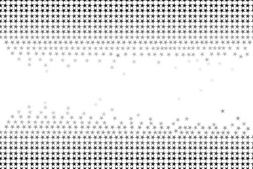 Seamless pattern of stars and geometric shapes in gray colors on white background, black and white color. Flat design vector illustration, EPS10, for wallpaper, gift wrap paper, tile print, etc.
