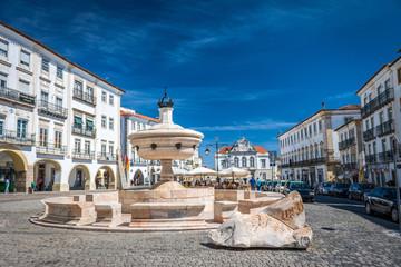 Place de Praça do Giraldo à Evora Portugal