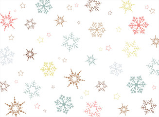 Christmas colorful snowflake pattern background.