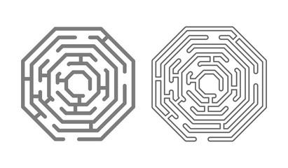 maze labyrinth logo icon