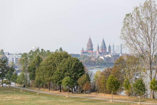 Skyline von Mainz am Rhein