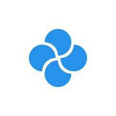 Quatrefoil abstract logo