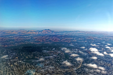 Aerial view of California's San Joaquin Valley with Mt. Diablo in background. Wall mural