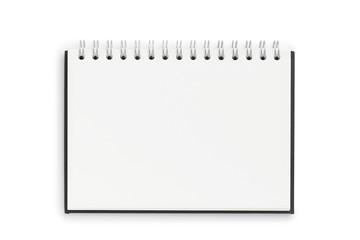 leeres Notizbuch auf weißem Hintergrund