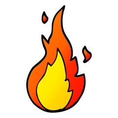 vector gradient illustration cartoon flame symbol