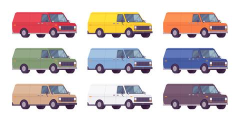 Van set in bright colors