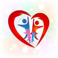 Family unity people logo