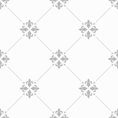 abstract floral seamless pattern with flowers, netting and leaves