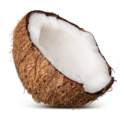 Coconut isolated on white background. Clipping path
