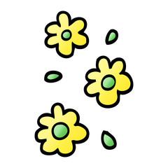 vector gradient illustration cartoon flower heads