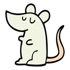comic book style cartoon mouse