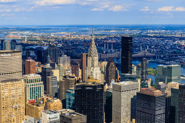 Garden Poster New York Vue de Manhattan depuis l'Empire State Building, New York City
