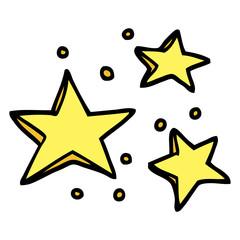 hand drawn doodle style cartoon decorative stars