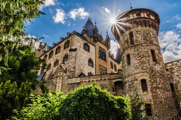 Schloss Wernigerode mit Sonnenschein Wall mural