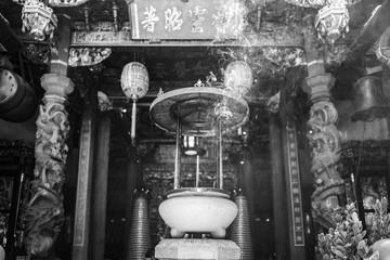Smoke in a temple in Taipei, Taiwan