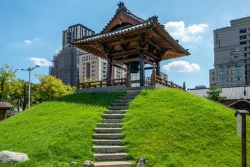 A pagoda in Taipei, Taiwan.