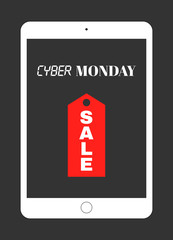 Vector Cyber Monday Sale banner
