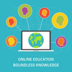 Vector flat style education art online education e-learning