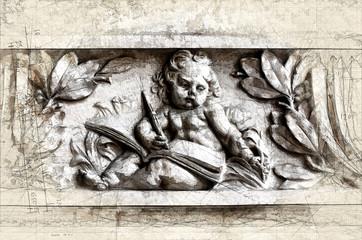 Literature in stone