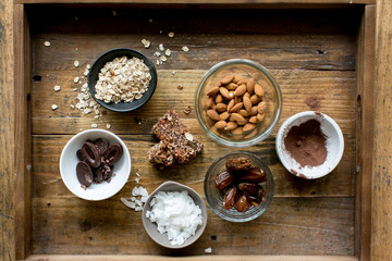 healthy dry ingredients for granola