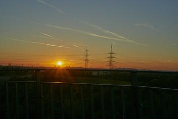 Halde Pluto, Wanne-Eickel im Abendlicht - Blick in Richtung Gelsenkirchen und Oberhausen