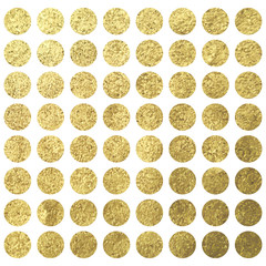 Vector golden circle pattern