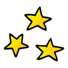 vector gradient illustration cartoon of three stars