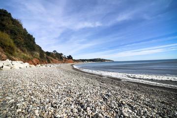 Seaton beach in Devon