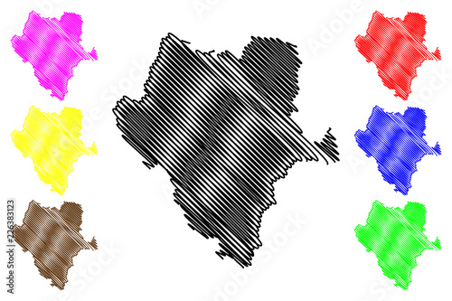 Durango (United Mexican States, Mexico, federal republic) map vector ...