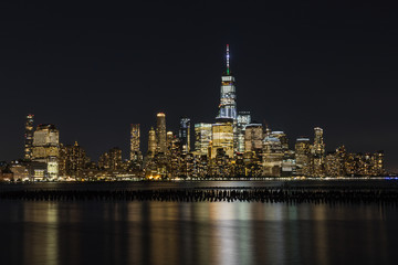 Vue de nuit de Manhattan, New York, Etats-Unis