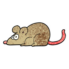 grunge textured illustration cartoon rat