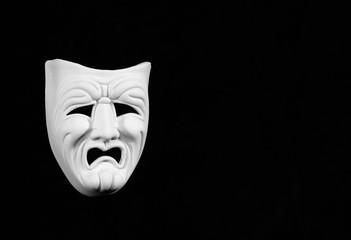 white tragedy mask