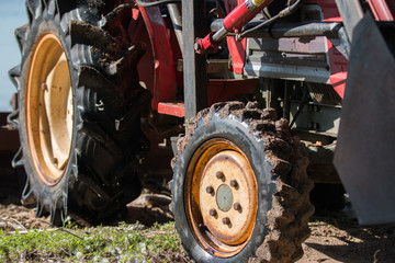 Farm Tractor Close Up