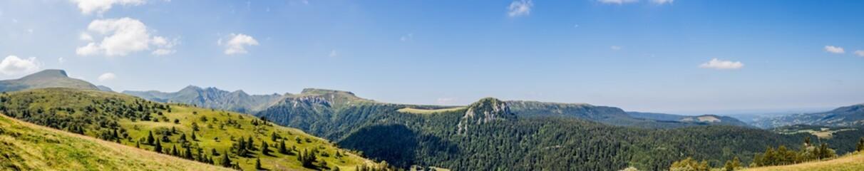 Panorama du Puy de Sancy et du Mont Dore en Auvergne
